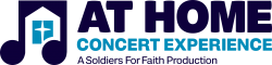 At Home Concert Experience with logo and tagline for home page.